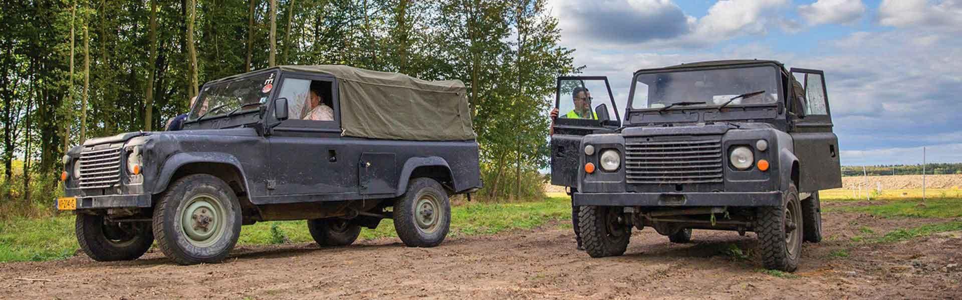 Terreinrijden Landrovers | Bedrijfsuitjes in Twente